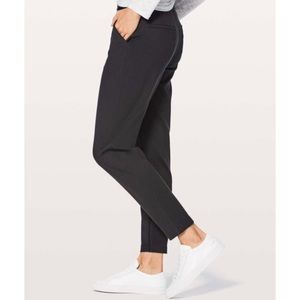 Lululemon city trek trouser pant II black cropped